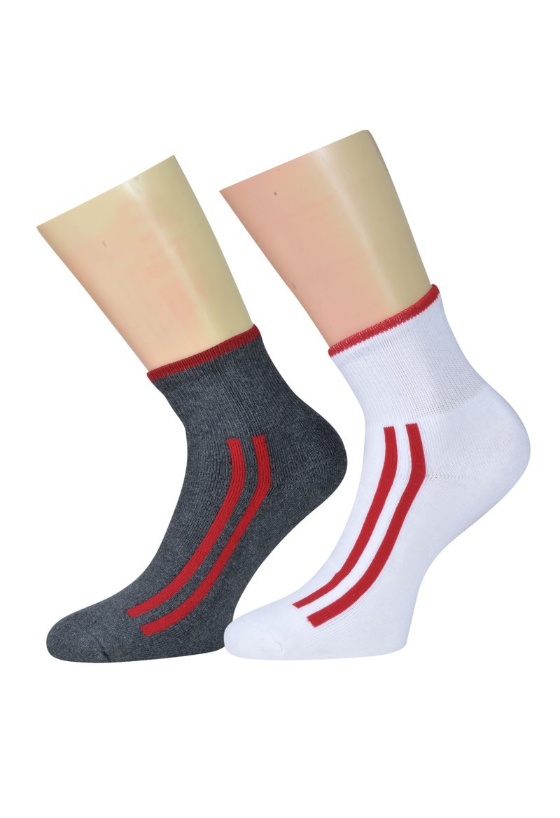 Pack of 2 Unisex Ankle Terry Socks